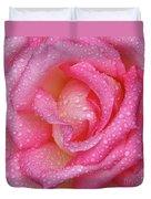 Raindrops On Pink Rose Duvet Cover