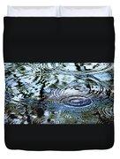 Raindrops On Water Duvet Cover