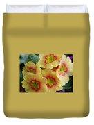 Raindrops On Yellow Flowers Duvet Cover