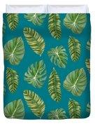 Rainforest Resort - Tropical Leaves Elephant's Ear Philodendron Banana Leaf Duvet Cover
