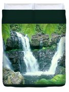 Rainforest Waterfalls Duvet Cover