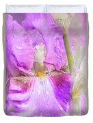 Raindrops On Persian Berry Iris Duvet Cover