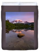 Rainier Dawn Breaking Duvet Cover
