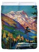 Rainier National Park Vintage Poster Restored Duvet Cover