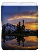 Rainier Sunrise Reflection #2 Duvet Cover