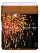 Raining Golden New Year Wishes Duvet Cover