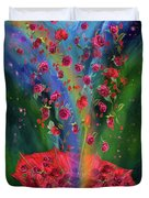 Raining Roses 2 Duvet Cover