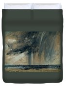 Rainstorm Over The Sea Duvet Cover by John Constable