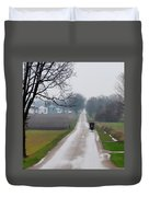 Rainy Amish Day Duvet Cover
