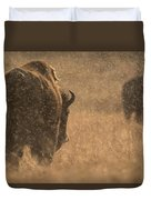 Rainy Bison Duvet Cover