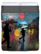 Rainy City Scene Duvet Cover