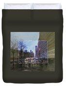 Rainy City Street Layered Duvet Cover by Anita Burgermeister