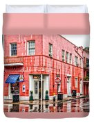 Rainy Corner Duvet Cover