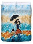 Rainy Day Blues Duvet Cover