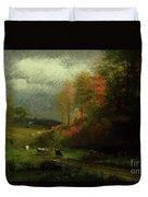 Rainy Day In Autumn Duvet Cover