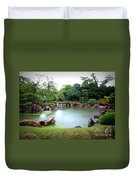 Rainy Day In Kyoto Palace Garden Duvet Cover