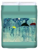 Rainy Day In The City Duvet Cover
