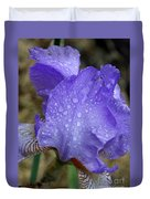 Rainy Day Iris Duvet Cover