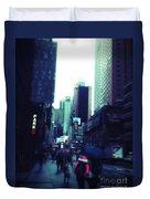 Rainy Day New York City Duvet Cover by Rachel Maynard