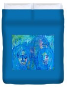 Rainy Day People Duvet Cover