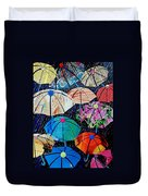 Rainy Day Personalities Duvet Cover by Susan DeLain