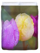 Rainy Day Tulips Duvet Cover