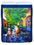 Rainy Dutch Alley Duvet Cover