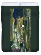 Rainy Evening In Kotor Duvet Cover