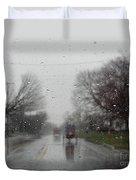 Rainy Fall Day Duvet Cover
