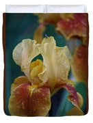 Rainy Iris Duvet Cover