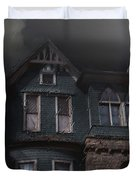 Rainy Night House Duvet Cover