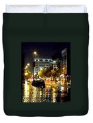 Rainy Night In Green Bay Duvet Cover