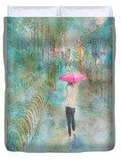 Rainy In Paris 3 Duvet Cover