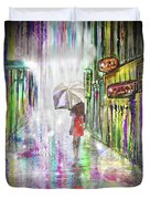 Rainy Paris Day Duvet Cover by Darren Cannell