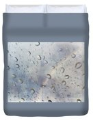 Rainy Rainbow Duvet Cover