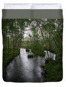 Rainy River. Koirajoki Duvet Cover