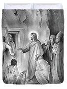 Raising Lazarus Duvet Cover