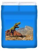 Rajasaurus In The Desert Duvet Cover