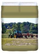 Raking The Hay Duvet Cover