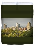 Raleigh Nc Panoramic Duvet Cover