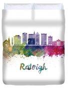Raleigh V2 Skyline In Watercolor Duvet Cover
