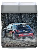 Rally Car Duvet Cover