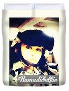 Ramadi Selfie Duvet Cover by Michelle Dallocchio