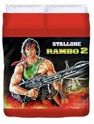 Rambo 2 Sylvester Stallone Paintinf Duvet Cover