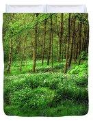 Ramsons And Bluebells, Bentley Woods Duvet Cover