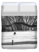 Ranch Horse In The Fields Duvet Cover