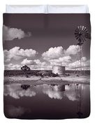 Ranch Pond New Mexico Duvet Cover
