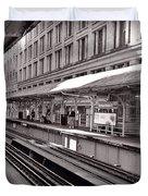 Randolph Street Station Chicago Duvet Cover