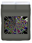 Random Color Oval Abstract Duvet Cover