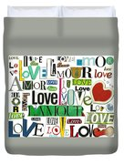 Ransom Art - Love Duvet Cover